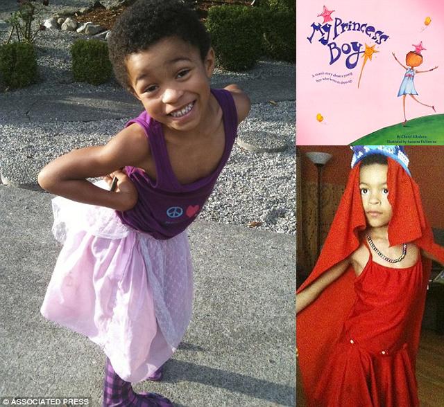 Menino de 5 anos que se veste de menina