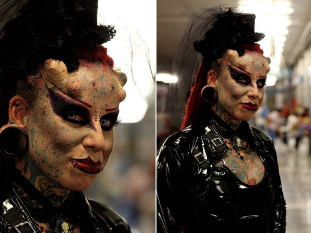 Mulher Vampiro Exibe Novos Chifres E Presas 02