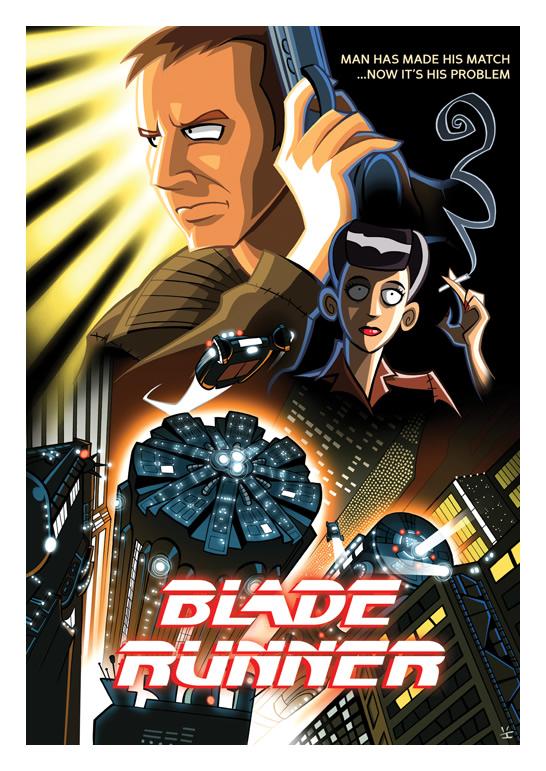 Posters de filmes no estilo Cartoon
