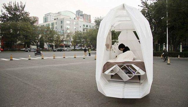 Solução pra quem não tem casa, mas tem uma bicicleta!