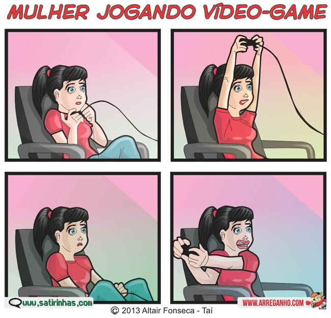 Mulher Jogando VideoGame