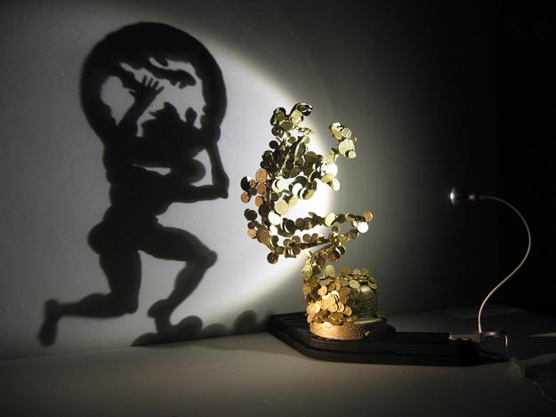 Artista cria incríveis esculturas feitas com sombras