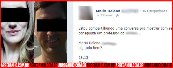 Rapaz descobre traio de sua namorada com professor, muda a senha da garota no Facebook e posta a conversa em pblico