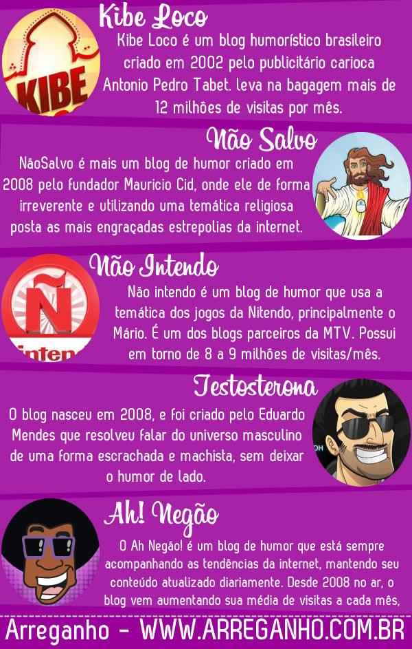 Os 5 blogs mais acessados do Brasil