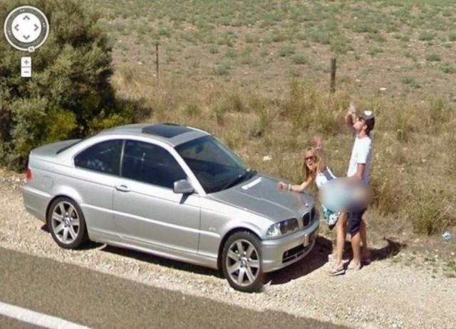 Flagras inusitados registrados pelo Google Street View
