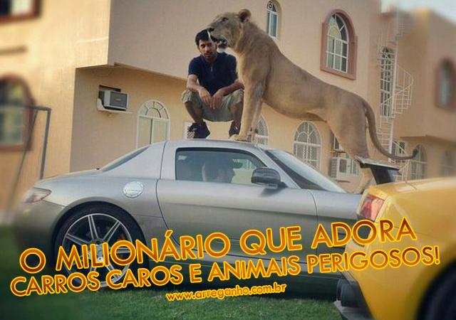 Humaid AlBuQaish, O Milionário Que Adora Carros Caros e Animais Perigosos