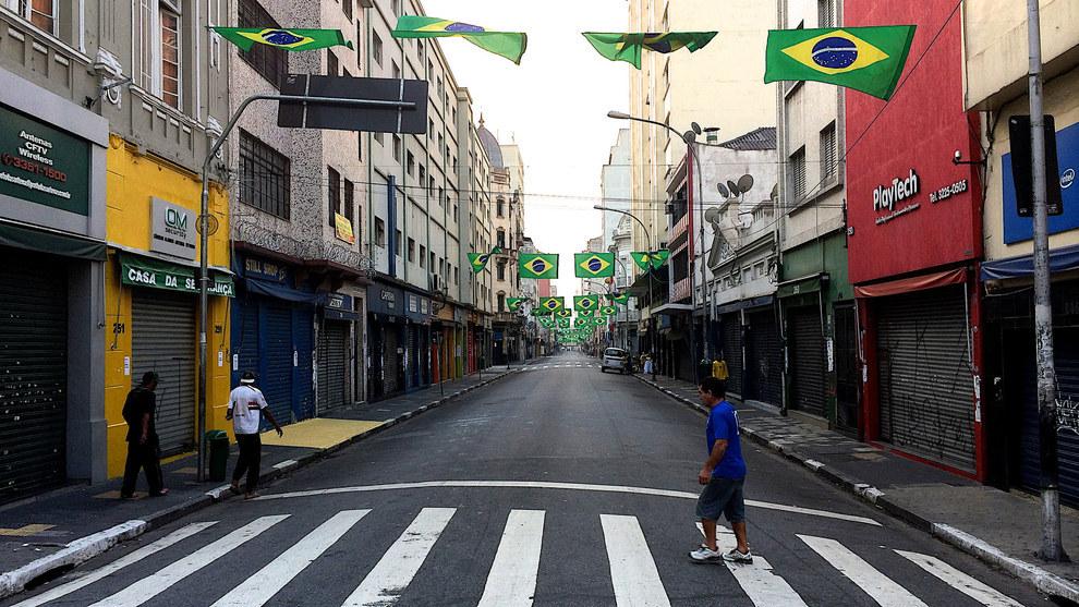 São Paulo na hora do jogo do Brasil