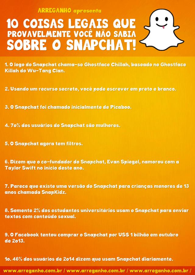 10 Coisas legais que provavelmente você não sabia sobre o Snapchat