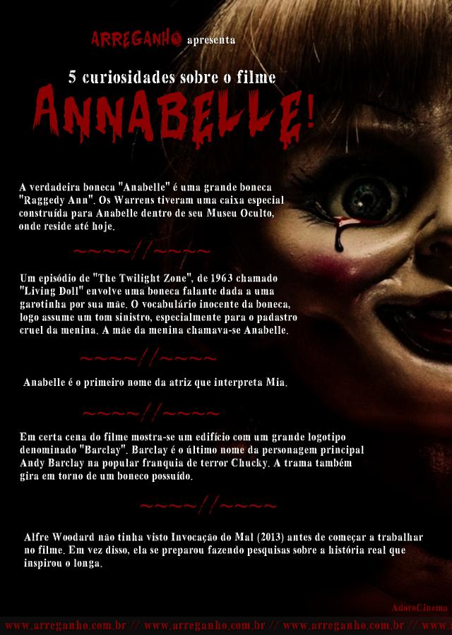 5 Curiosidades sobre o filme Annabelle!