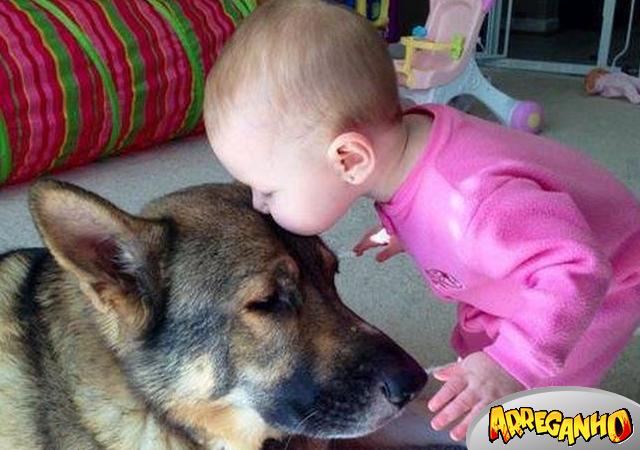 10 Fotos que provam que crianças precisam de animais de estimação