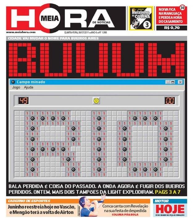 As 10 melhores capas do jornal Meia Hora