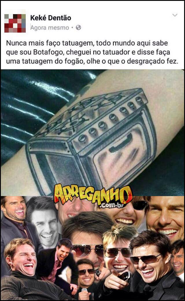 Quero uma tatuagem do botafogo