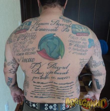 Homem Tem 89 Tatuagens da Record Espalhadas Pelo Corpo 2