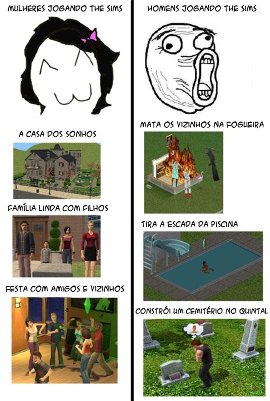 Diferenças Entre O Homem E A Mulher Ao Jogar The Sims