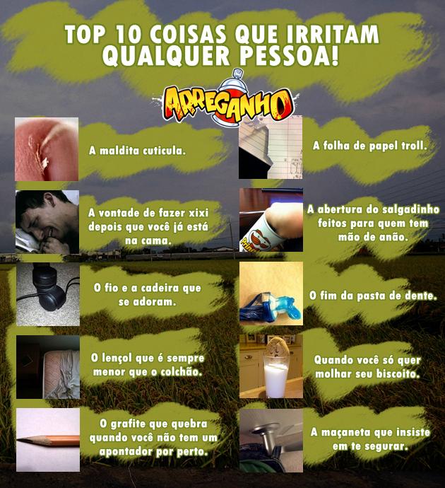 Top 10 Coisas Que Irritam Qualquer Pessoa!