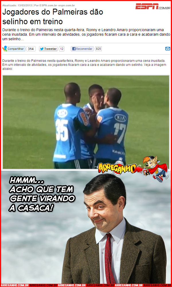Jogadores do Palmeiras Dão Selinho em Treino