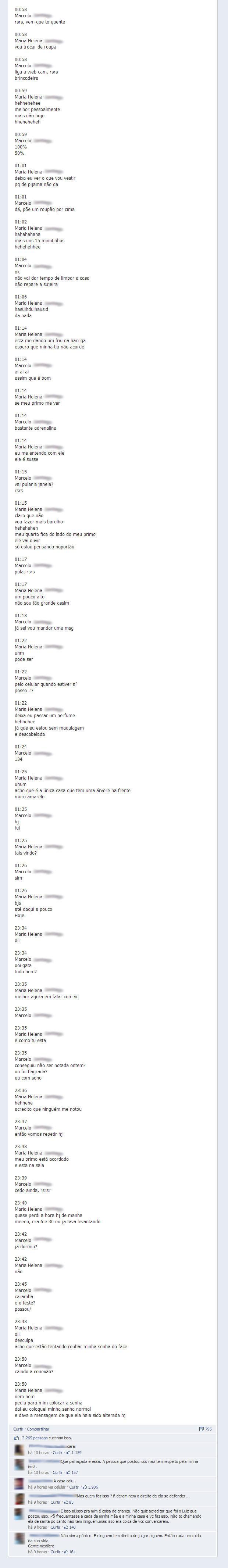 Rapaz descobre traição de sua namorada com professor, muda a senha da garota no Facebook e posta a conversa em público - Parte 4