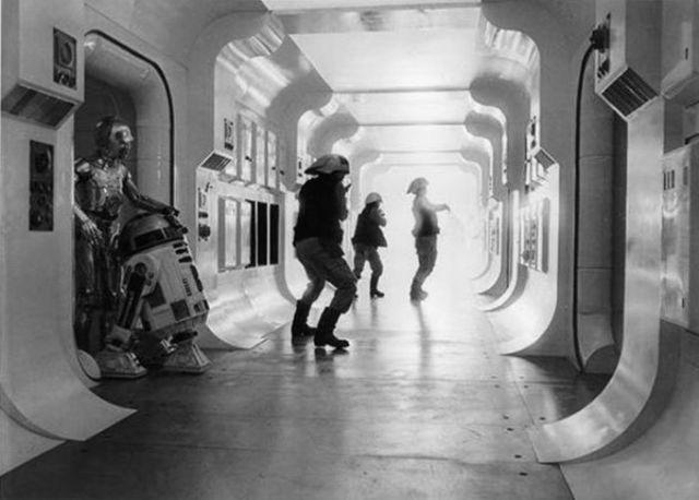 Fotos Curiosas das Filmagens de Star Wars, em 1977