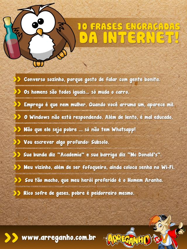 10 Frases Engraçadas Da Internet