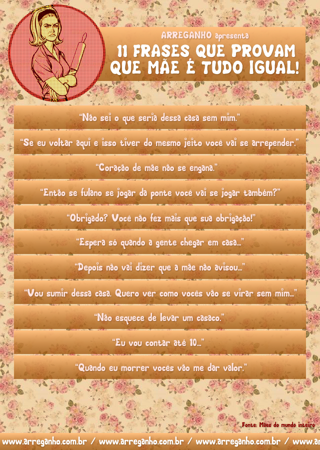 11 Frases que provam que mãe é tudo igual