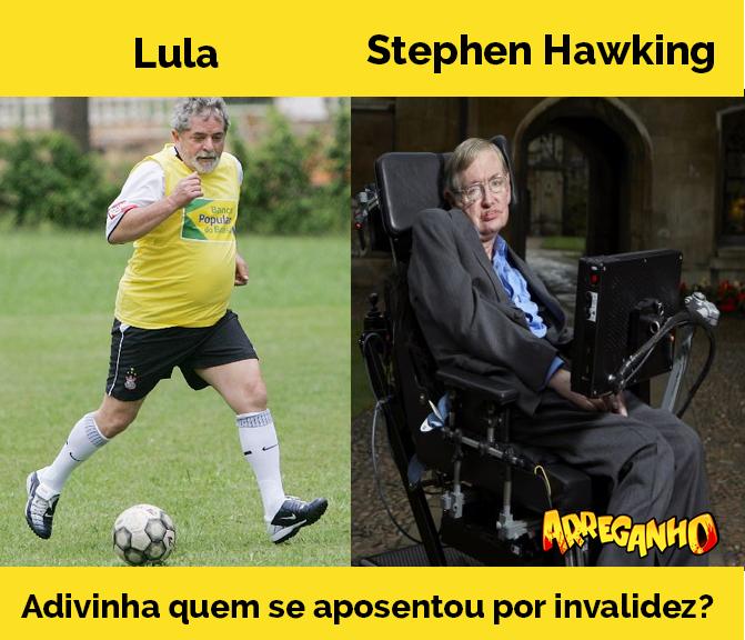 Adivinha quem se aposentou por invalidez?