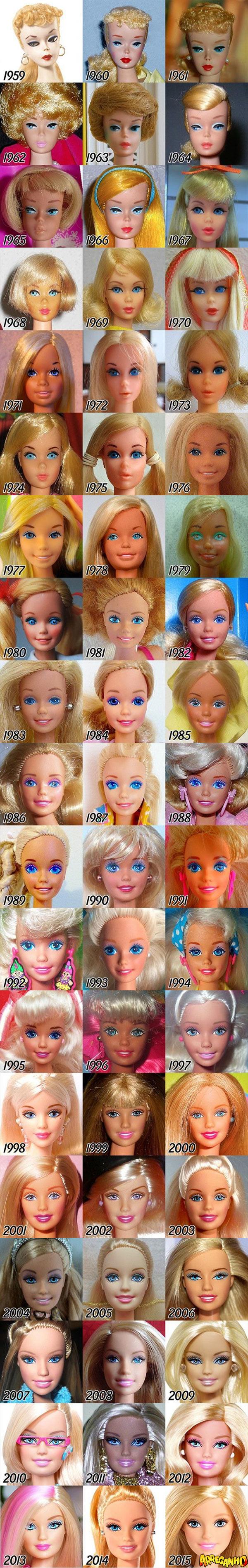 evolução-da-barbie