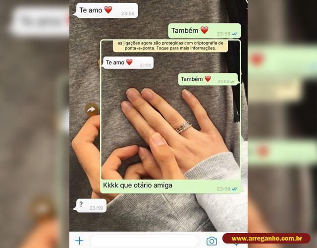 Janela errada, mas texto no whatsapp certo!