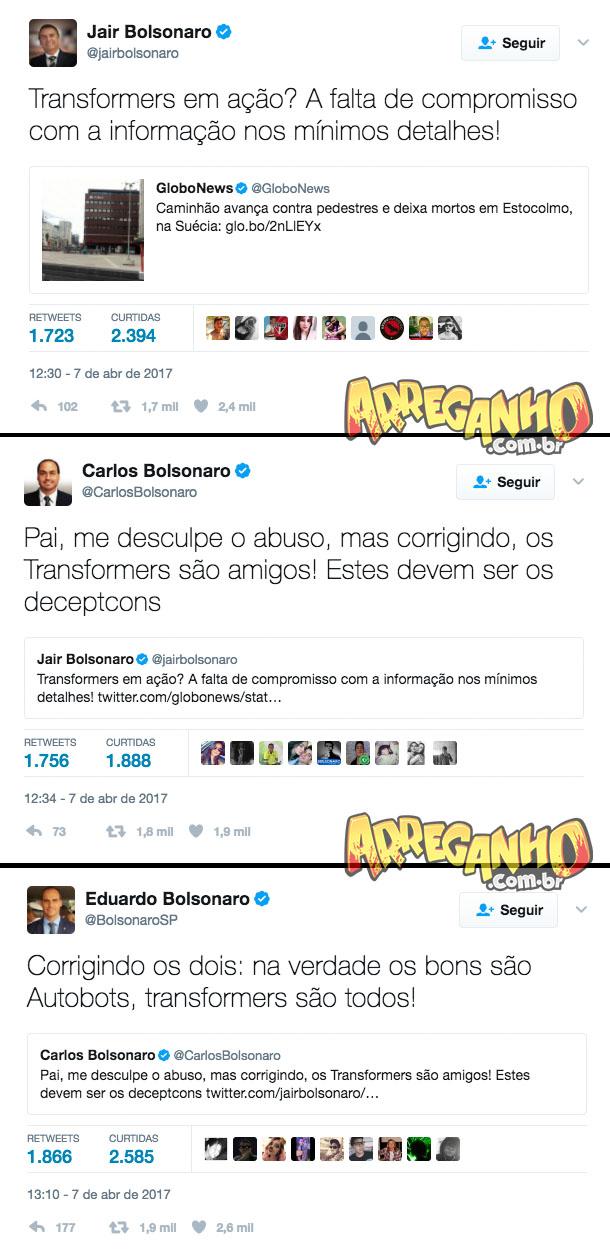 Bolsonaros discutindo